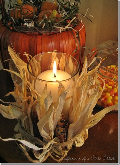 Easy to Make Fall Corn Candle