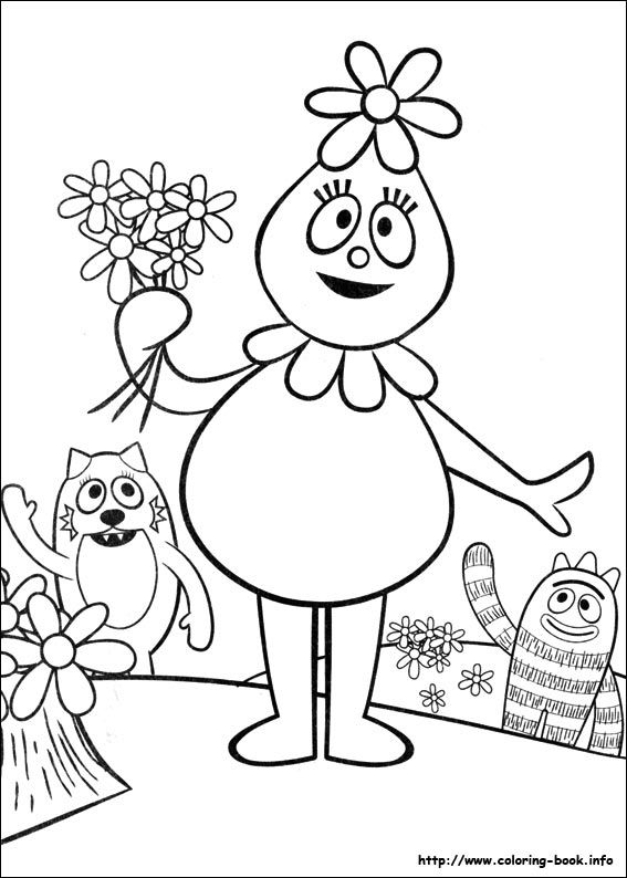 Yo Gabba Gabba coloring page (Foofa) Family Activities