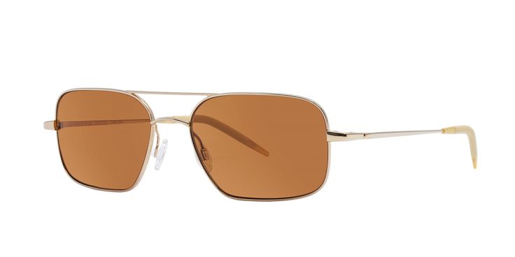 Oliver Peoples | Victory Gold with Cognac Polarized Glass Sunglasses by Oliver Peoples