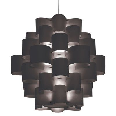 Wade Logan Barrett 9 Light Pendant Shade Color: Black
