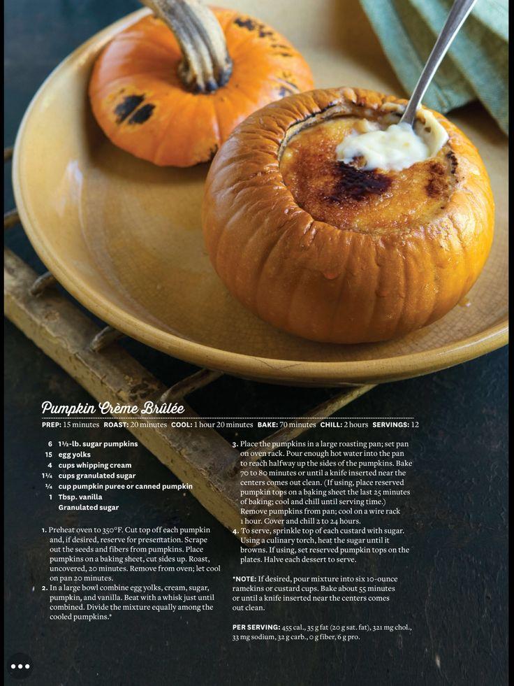 Living The Country Life magazine Pumpkin Cream Brûlée