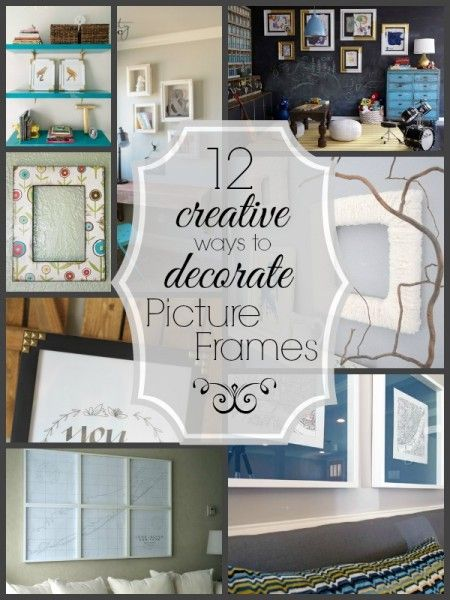 12 Creative Ways to Decorate Picture Frames | Tipsaholic.com #diy #home #decor #frames #crafting