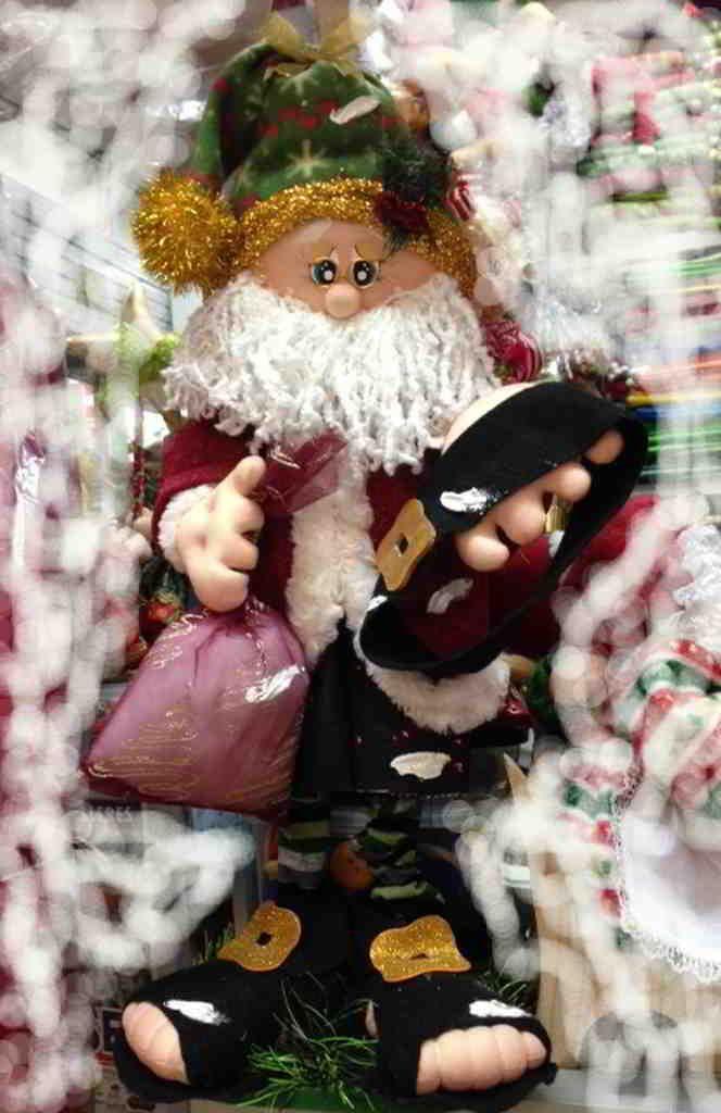 Papá Noel mendigo