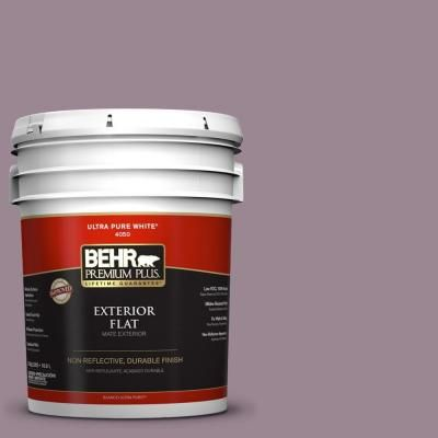 BEHR Premium Plus 5-gal. #690F-5 Purple Mauve Flat Exterior Paint-430005 - The Home Depot