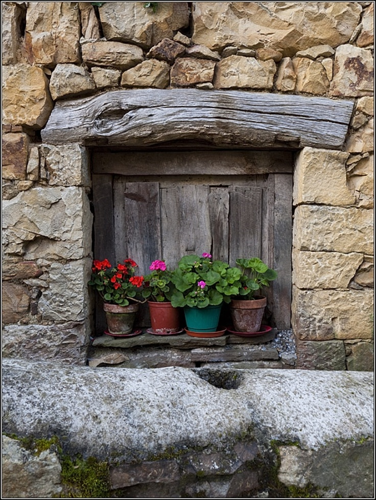 Arquitectura popular, ventana de Miruxeo, #turismorural en #Asturias