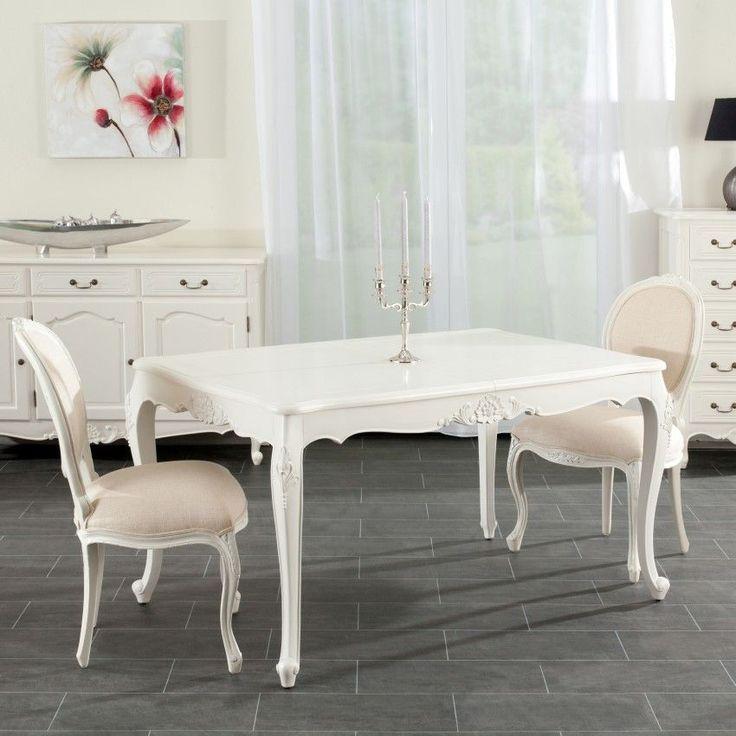 Stół Dorothee rozkładany 140/190x90x76cm, white, 140-190x90x76cm - Dekoria #white #meble #biale #furniture #stolik #interior #idea #design