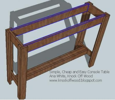 DIY Entry Table, Wonderful Instructional