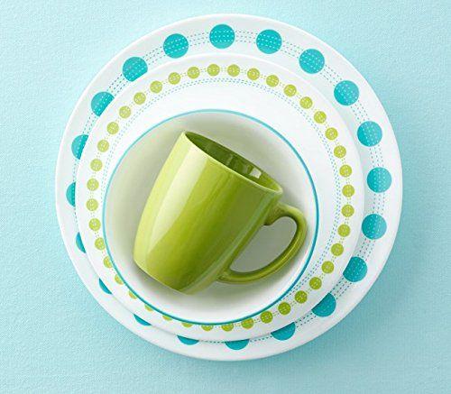 corelle dots | Corelle Livingware Dinnerware Set, South Beach