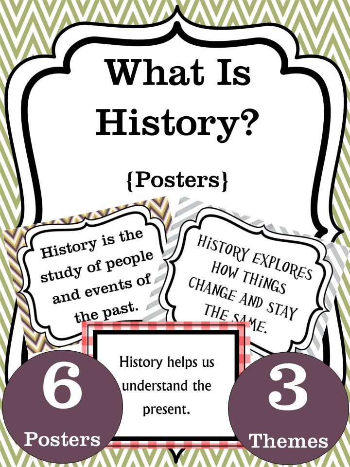 These posters will help students understand the reasons why we learn about history! The download includes 6 different posters in 3 different themes. You can mix and match or choose a particular theme that fits your classroom style.