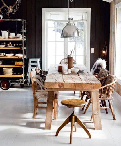 modern interior design, rustic modern, scandinavian design  stol