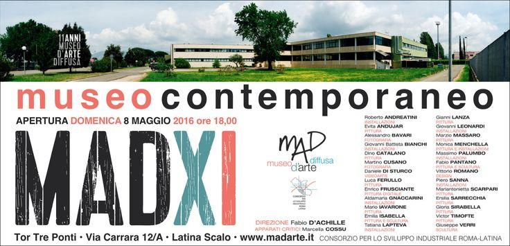 Apre il MADXI… uno spazio dedicato all'Arte Contemporanea, Inaugurazione domenica 8 maggio ore 18.00 Chiusura mostra 26 giugno 2016 Artisti: Roberto Andreatini (installazioni), Evita Andujar (pittura), Aless...