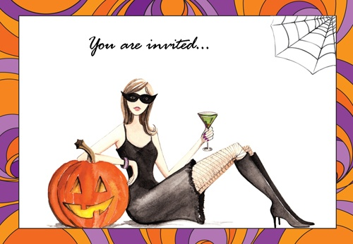Bonnie Marcus guest blogger on Kodak: A Thousand Words.  Fashionable Halloween invitations and cards can be personalized at the Kodak Picture Kiosk.