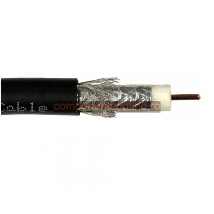 Cablu coaxial, RG11, 75 Ohm, negru - 402273