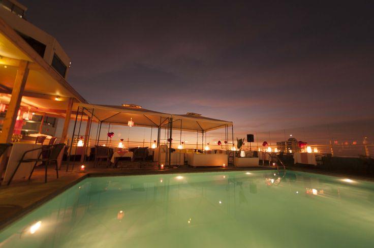 Atardecer en Ikebana Japanese Cuisine, 8vo piso de Hotel Sunfish, Iquique-Chile.