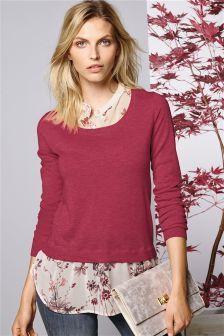 Grandad Neck Layered Sweater (398632G94)   £34