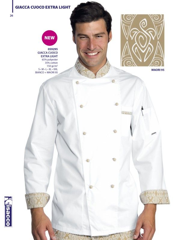 € 39,00 - Chaqueta Chef Blanca Maori 59295 ISACCO