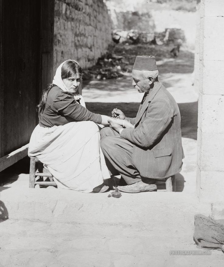 Tattooing a Pilgrim: Jerusalem, Palestine 1900-1920