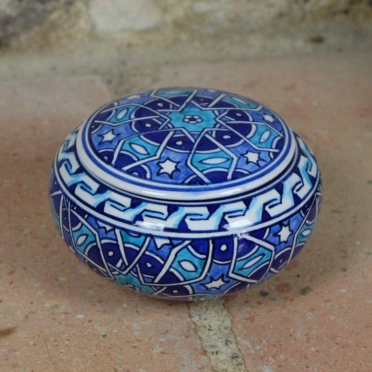 Petite #boîte #bleue orientale en #céramique