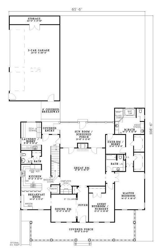 45 best home designs and plans images on pinterest for Completely open floor plans