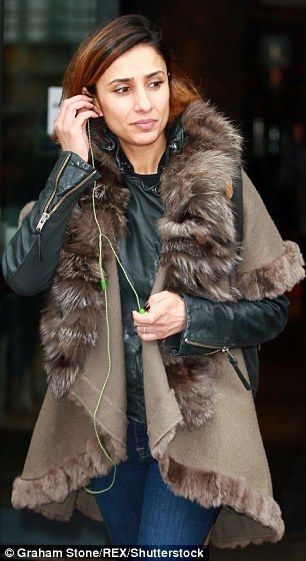 A welcome distraction: Anita Rani hoped to while away her pre-show jitters by listening to...