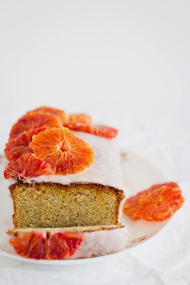 blood orange drizzle cake