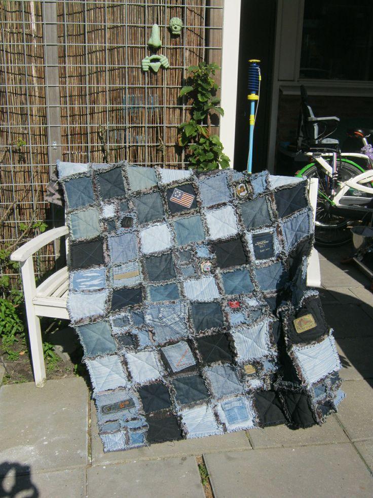 Recycle: van oude jeans naar een quilt