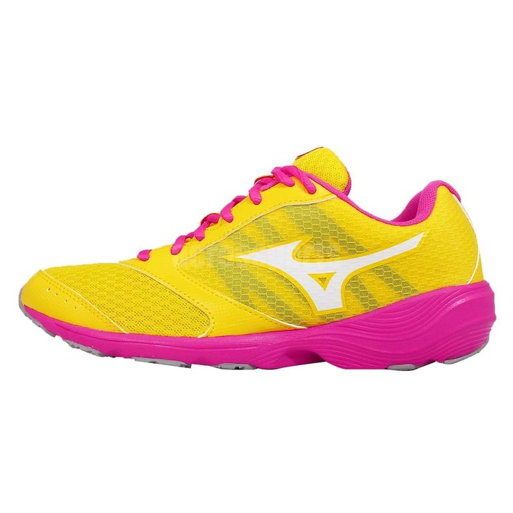 Mizuno Prima Vivo 2 W Yellow Purple Womens Running Shoes Trainers J1Gh152701