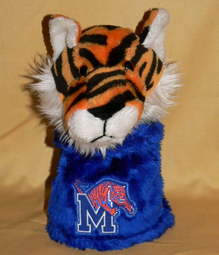 Sport FANatics Golf Club Head Cover M University Memphis Tigers Plush Rare Vtg  #SportFANatics