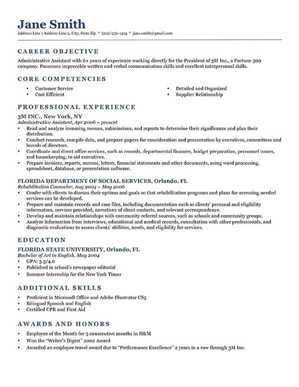 Administrative Objective For Resume Objective On Resume Examples  Resume Examples  Pinterest  Sample .
