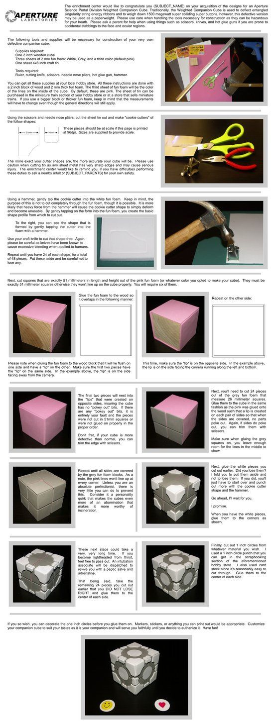 Companion Cube tutorial by ~HoiHoiSan on deviantART