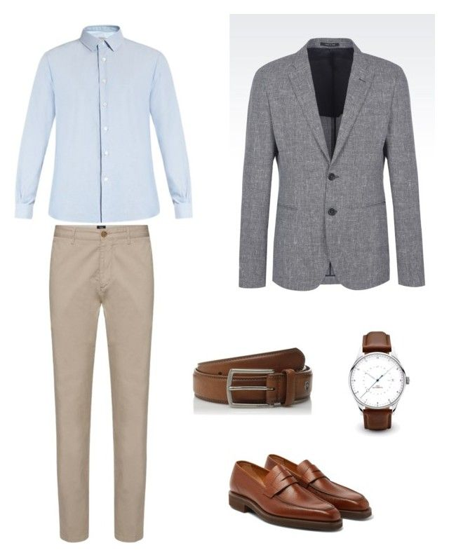 """Без названия #6"" by hyzirt on Polyvore featuring Valentino, George Cleverley, Emporio Armani, Nautica, men's fashion и menswear"