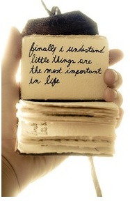 miniature handwritten quote book with deckled paper