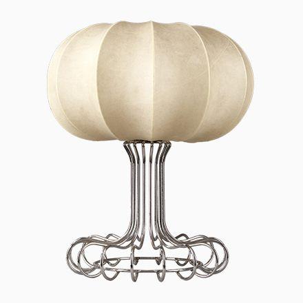 Tischlampe mit Fuß aus Verchromten Metall von Achille Castiglioni, 197... Jetzt bestellen unter: https://moebel.ladendirekt.de/lampen/tischleuchten/beistelltischlampen/?uid=93b6b360-a59f-5e14-a250-af9e067d0f20&utm_source=pinterest&utm_medium=pin&utm_campaign=boards #lampen #tischleuchten #beistelltischlampen
