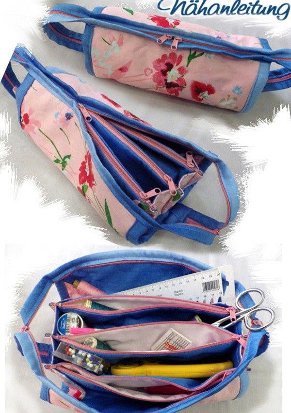 Du magst Ziehharmonikataschen // Fächertaschen für Kleinkram? Dann ist diese Nähanleitung + Schnittmuster optimal für Dich. Fang gleich an mit dem Nähen.