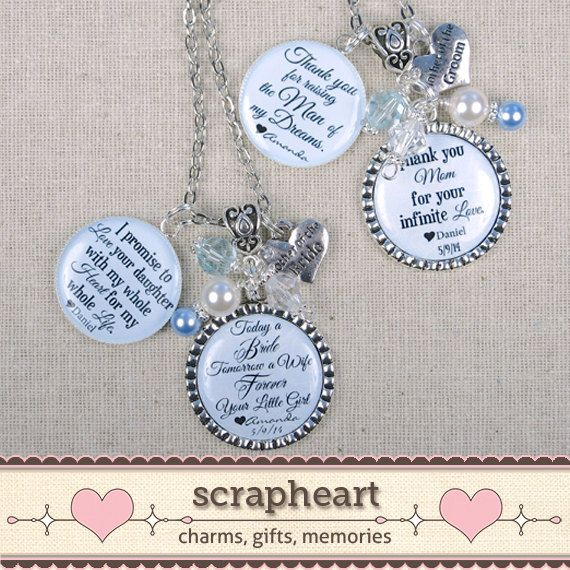 Wedding Thank You Gifts For Parents - Mother of the Bride and Mother of the Groom Jewelry, by ScrapheartGifts