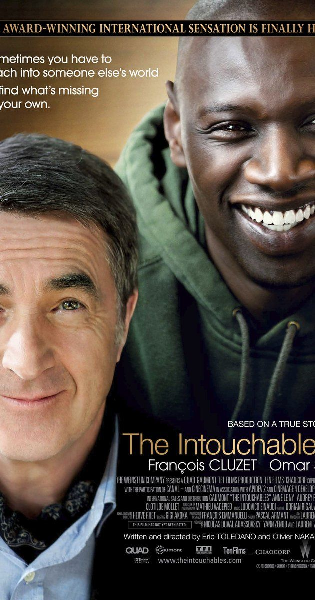 Directed by Olivier Nakache, Eric Toledano.  With François Cluzet, Omar Sy, Anne Le Ny, Audrey Fleurot. After he becomes a quadriplegic from a paragliding accident, an aristocrat hires a young man from the projects to be his caregiver.