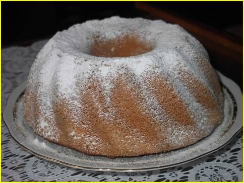 Tulband cake 170C, 50-60 minutes, 225 gram selfrising flour 225 gram butter 225 gram sugar 1 tsp-1tbsp vanilla extract 4 eggs cream the butter with the sugar, add 1 egg at a time, add vanilla extract, add flour gently, don't overmix