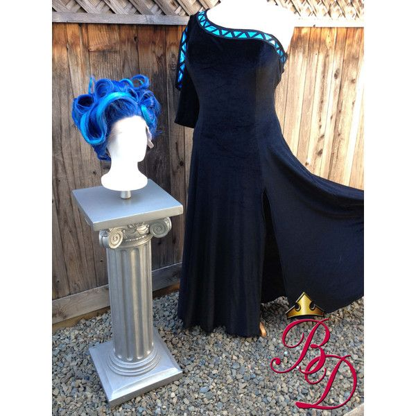 Female Hades Underworld Genderbent Inspired Women's Costume Dress... ($675) ❤ liked on Polyvore featuring costumes, blue costume, adult women halloween costumes, ladies costumes, ladies halloween costumes and adult halloween costumes
