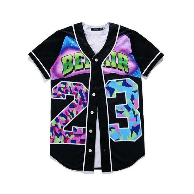 Fresh Prince Custom Made Baseball Jersey