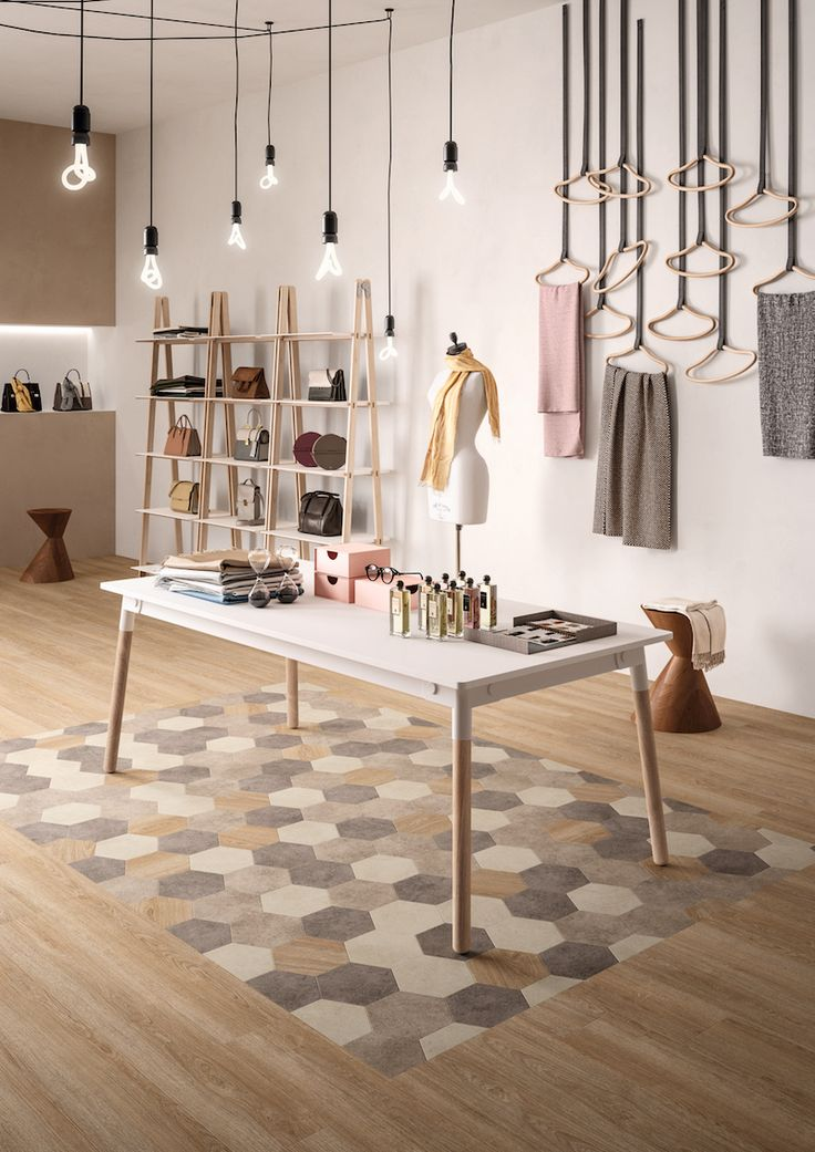 Mix & Match een luxe vinyl vloer. Houtlook vloer met geometrisch dessin. Moduleo Moods #trends #vloer #interieur