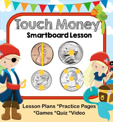 Pirate Touch Money Smartboard from CallingColleen on TeachersNotebook.com (55 pages)