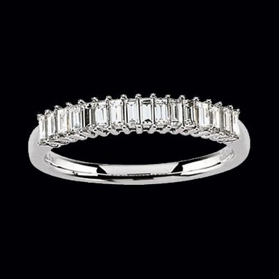 baget wedding band | ... baguette diamond anniversary ring baguette diamonds measures 2 4mm by