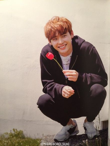 flowers, lee jong suk, and smile image