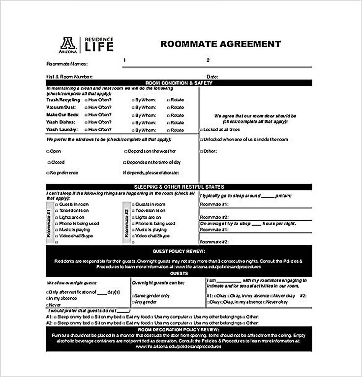 Example Roommate Agreement Templates , How to Create Your Own Roommate Agreement Template Easily , Roommate agreement template is easy and helpful for fewer problems in the future. It is not bounded by law at all but it is important to divide the role between people properly.
