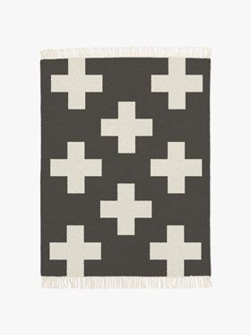 Kids Crosses Rug in Smoke from Aura Kids, available at Forty Winks.