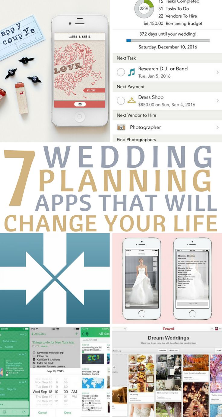 These wedding planning apps SAVED MY LIFE when I planned my wedding! I'm so happy I found this article! PIN IT NOW if you're losing your sanity planning a wedding!