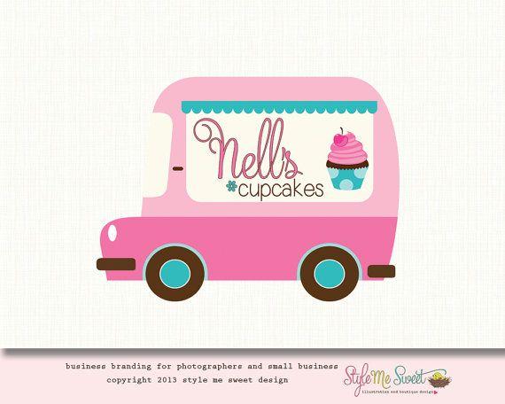 Cute Cupcake Business Names | Premade Bakery Logo Cupcake Logo Food Truck Logo Design (OOAK) One of ...