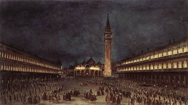 Nighttime Procession in Piazza San Marco, 1758			Francesco Guardi - Genre - veduta