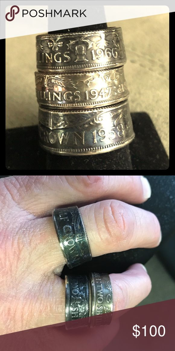 Royalty Rings Three rings all handmade to perfection! Solid, high detail, very rare coin rings! All three for sale!!  One time offer! Jewelry Rings