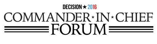 Watch NBC News' Commander-in-Chief Forum with Hillary Clinton and Donald Trump conducted by Matt Lauer and taking some questions from selected veterans.